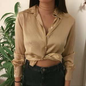 Vintage 100% silk top